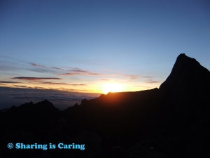 sunrise at the mountain - Kinabalu 19 Aug 2012