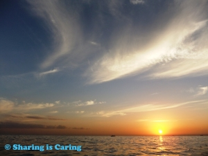 sunrise on the sea from a boat - Lovina beach 22 Jul 2012