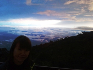 Sunset at mount Kinabalu